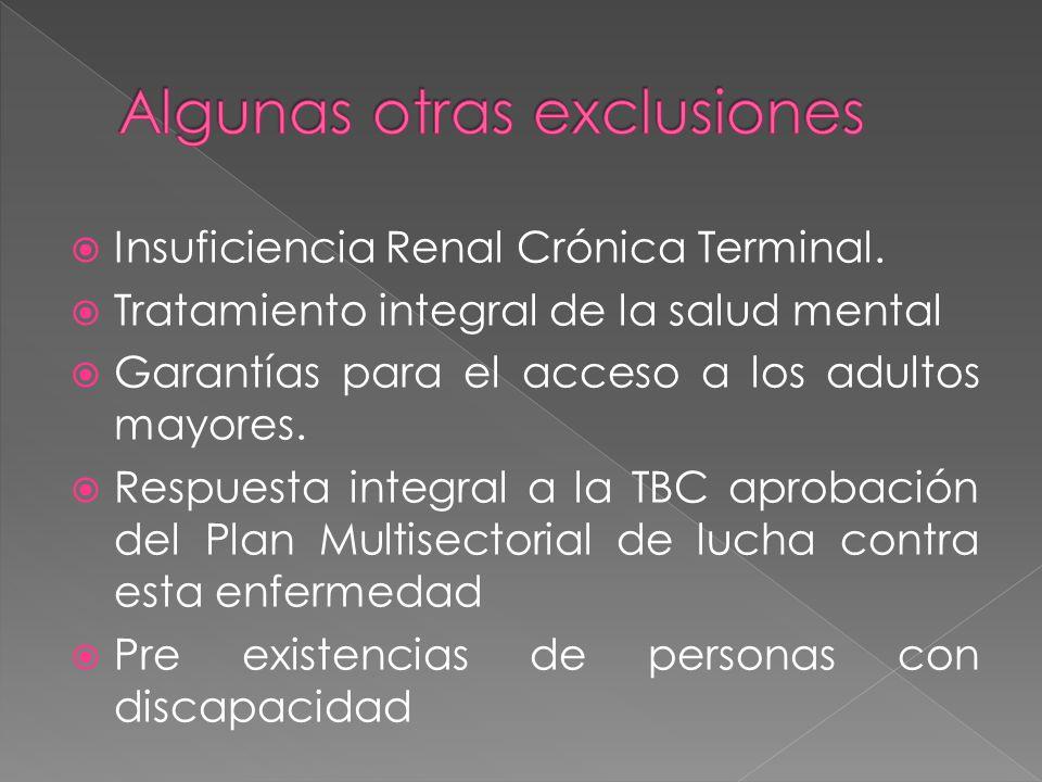 Insuficiencia Renal Crónica Terminal.