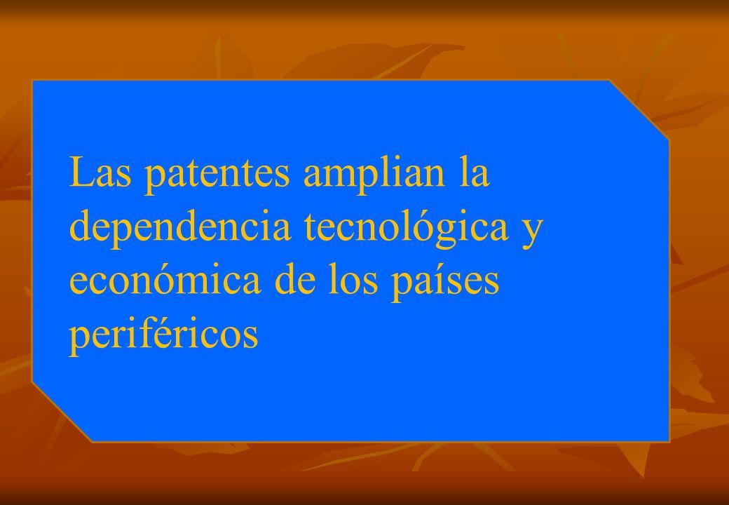 Las patentes amplian la dependencia tecnológica y económica de los países periféricos