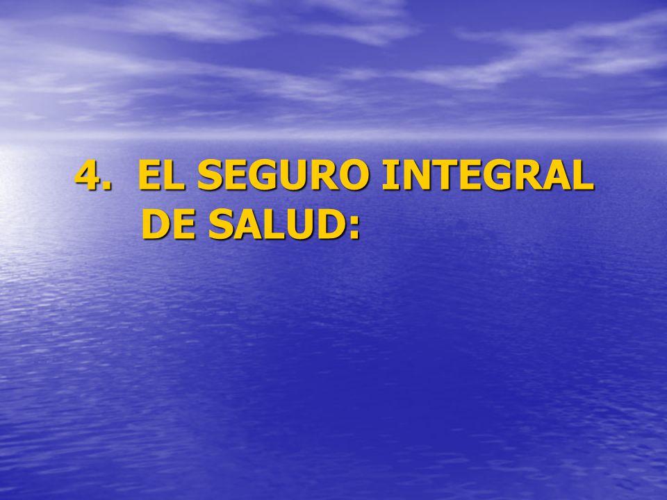 4. EL SEGURO INTEGRAL DE SALUD: