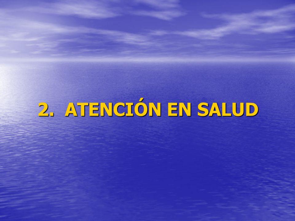 2. ATENCIÓN EN SALUD