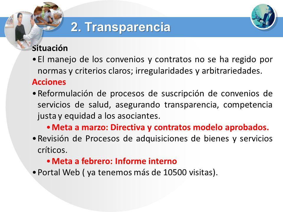 Situación El manejo de los convenios y contratos no se ha regido por normas y criterios claros; irregularidades y arbitrariedades. Acciones Reformulac