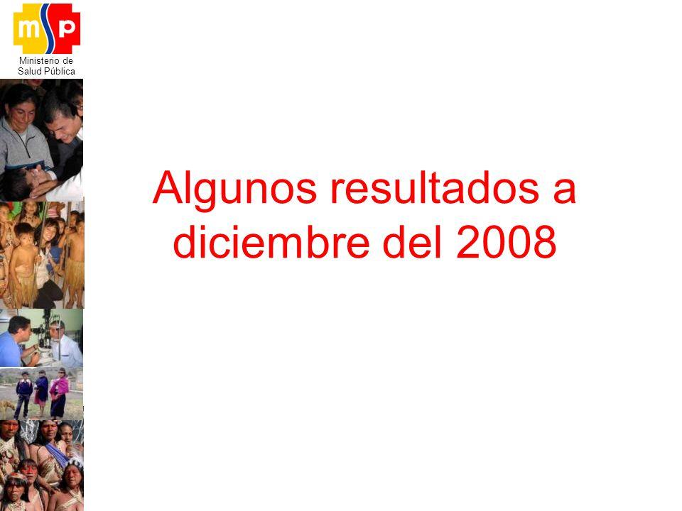 Ministerio de Salud Pública Algunos resultados a diciembre del 2008