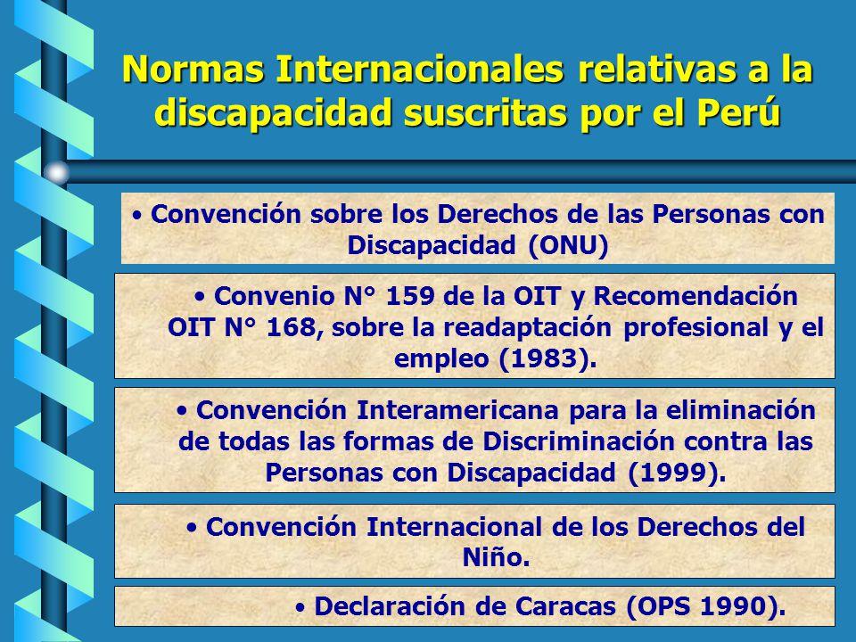 Legislación Nacional que protege los derechos de las personas con discapacidad D.S. 026-2003-ED Década de la Educación Inclusiva Plan Nacional para la