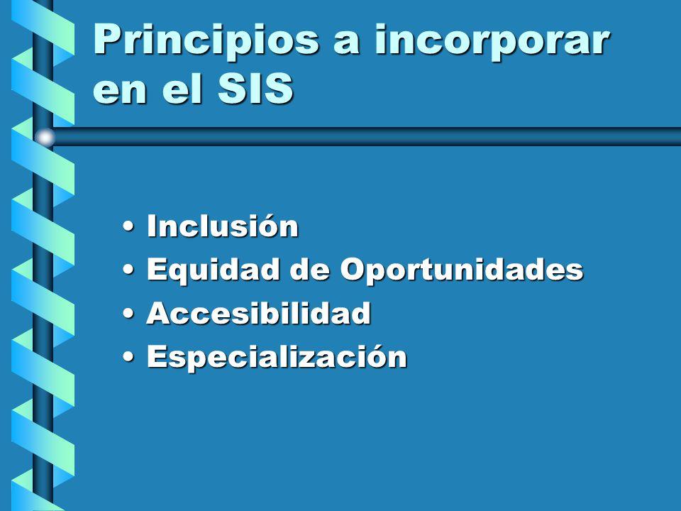 Problemas en calidad y acceso Discriminación y ExclusiónDiscriminación y Exclusión CentralismoCentralismo No toma en cuenta particulares condiciones d