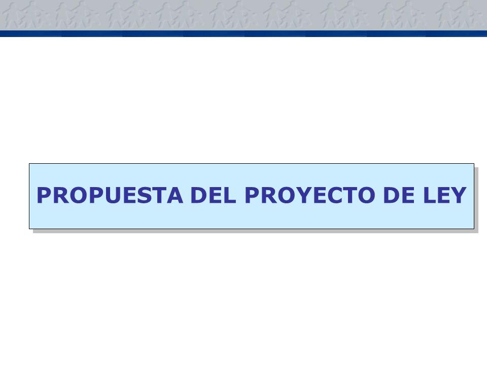 PROPUESTA DEL PROYECTO DE LEY