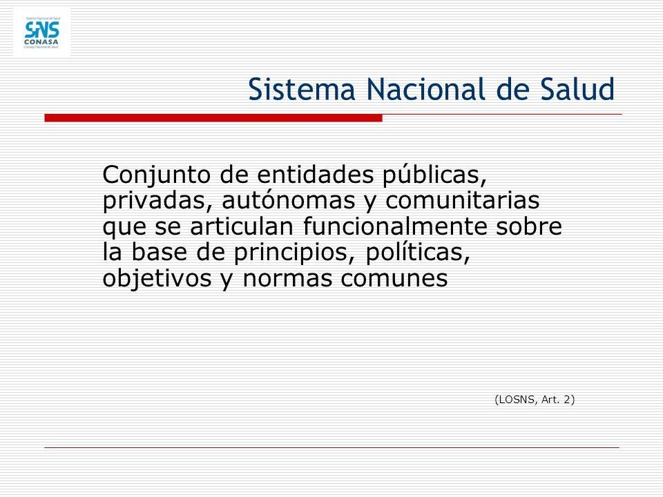 Conjunto de entidades públicas, privadas, autónomas y comunitarias que se articulan funcionalmente sobre la base de principios, políticas, objetivos y