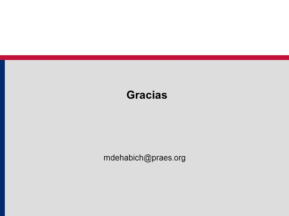 mdehabich@praes.org Gracias