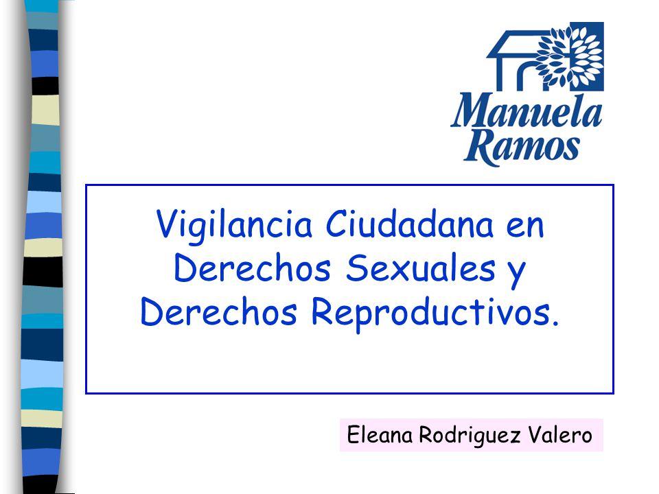 Vigilancia Ciudadana en Derechos Sexuales y Derechos Reproductivos. Eleana Rodriguez Valero