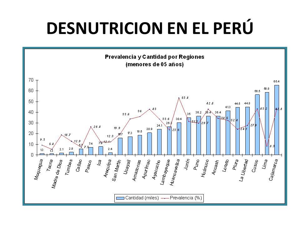 DESNUTRICION EN EL PERÚ