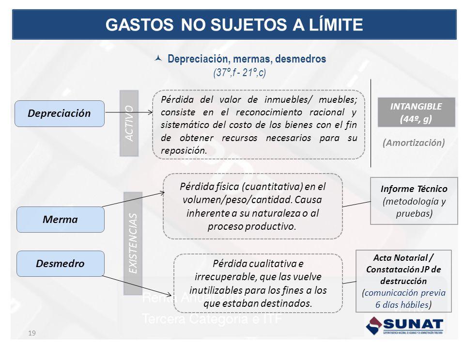 EXISTENCIAS ACTIVO Depreciación Merma Desmedro Pérdida física (cuantitativa) en el volumen/peso/cantidad.