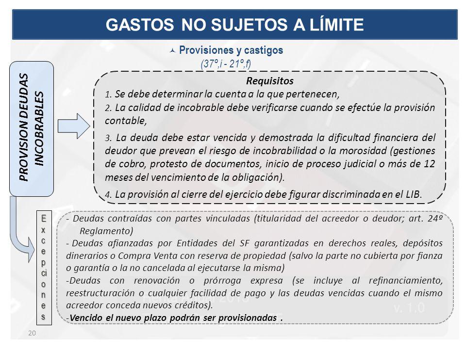 PROVISION DEUDAS INCOBRABLES Requisitos 1.Se debe determinar la cuenta a la que pertenecen, 2.
