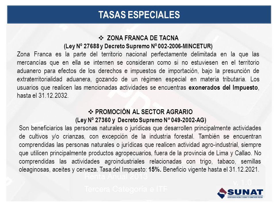 ZONA FRANCA DE TACNA (Ley Nº 27688 y Decreto Supremo Nº 002-2006-MINCETUR) Zona Franca es la parte del territorio nacional perfectamente delimitada en