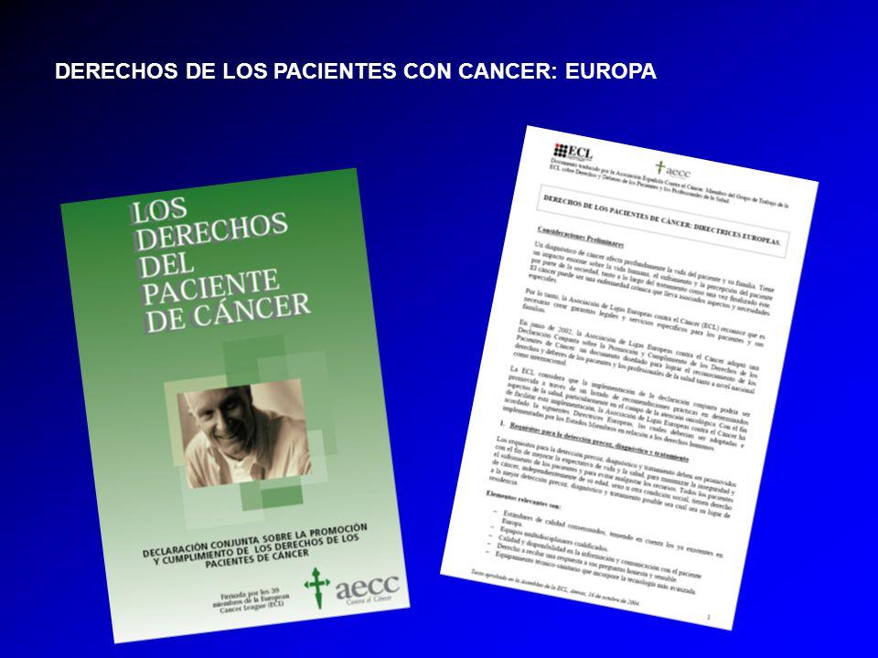 DERECHOS DE LOS PACIENTES CON CANCER: EUROPA