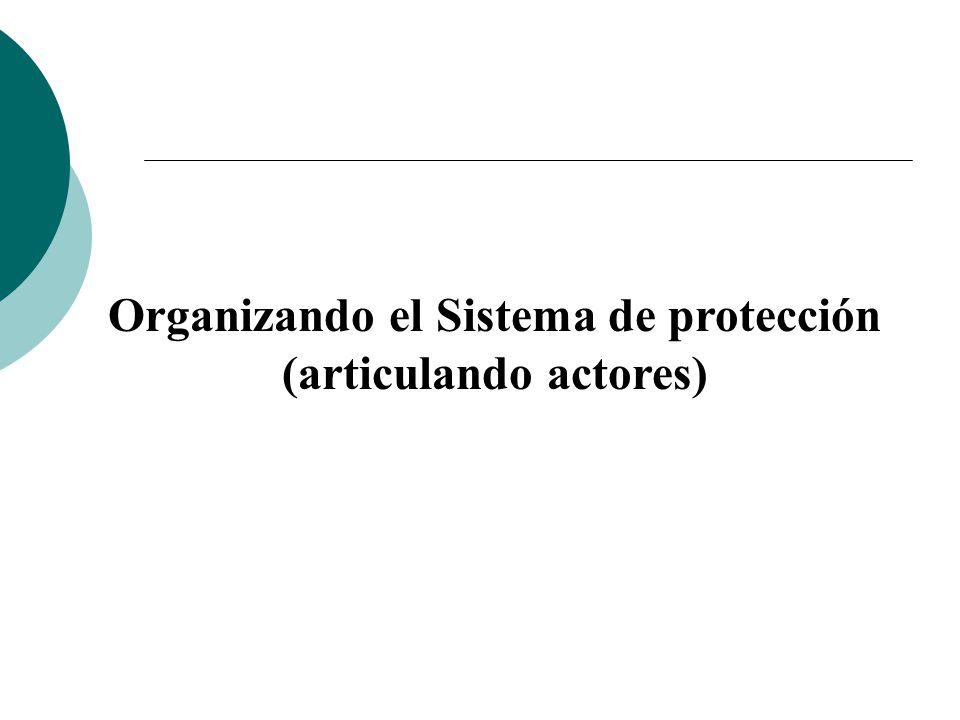 Organizando el Sistema de protección (articulando actores)