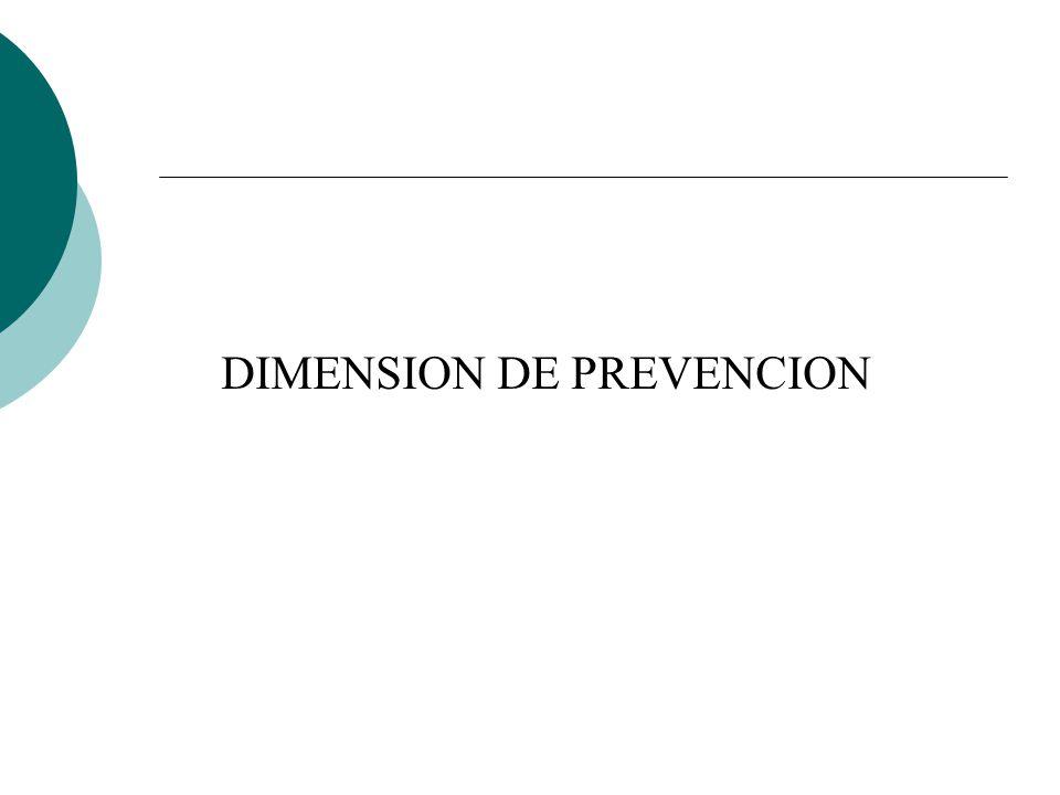 DIMENSION DE PREVENCION