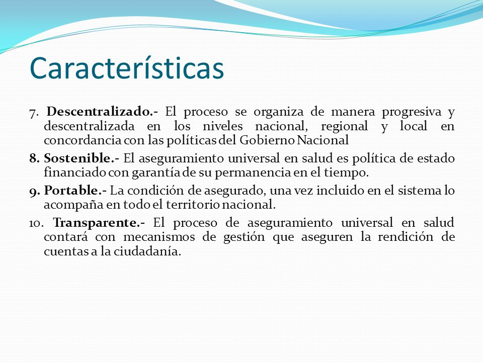Características 7.
