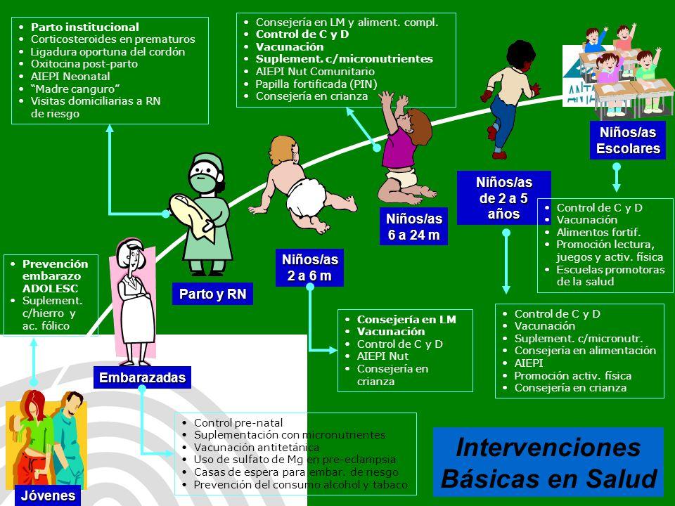 Antamina: Título de presentación32 Consejería en LM y aliment. compl. Control de C y D Vacunación Suplement. c/micronutrientes AIEPI Nut Comunitario P