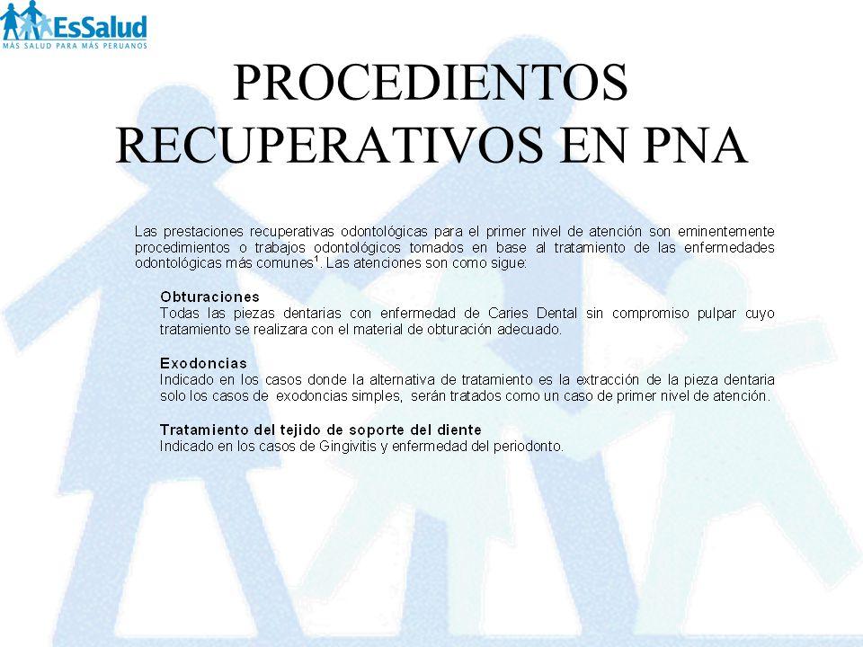 PROCEDIENTOS RECUPERATIVOS EN PNA