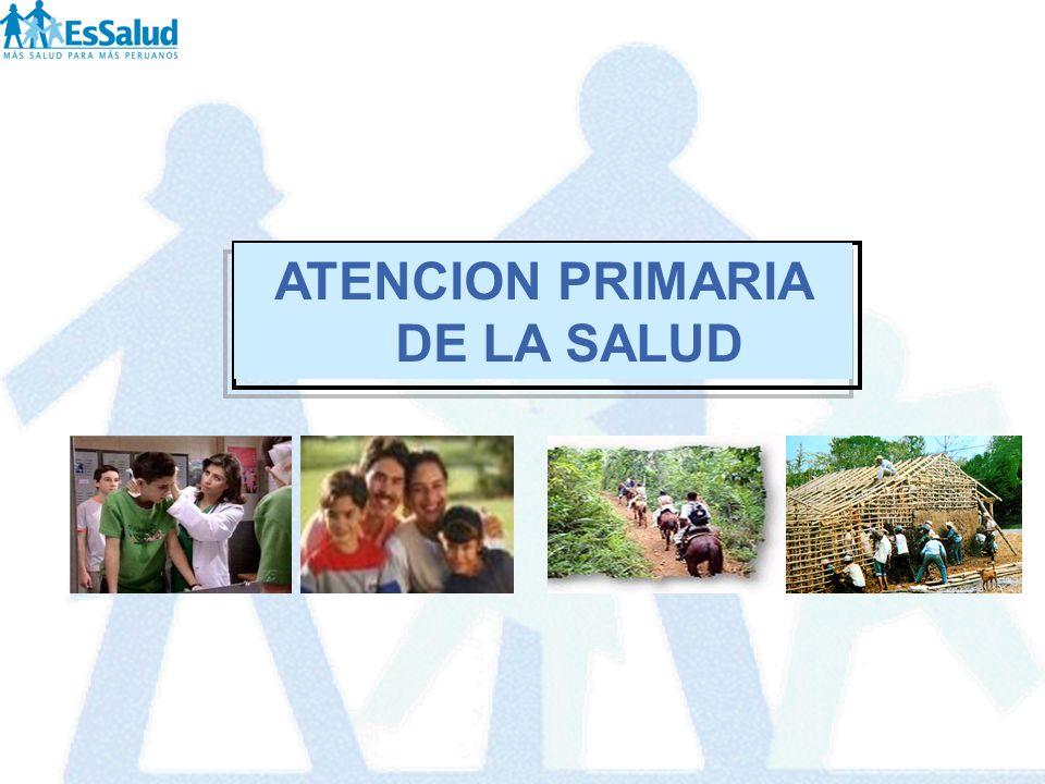 ESTRUCTURA DE LA CARTERA DE SERVICIOS DE ATENCION PRIMARIA