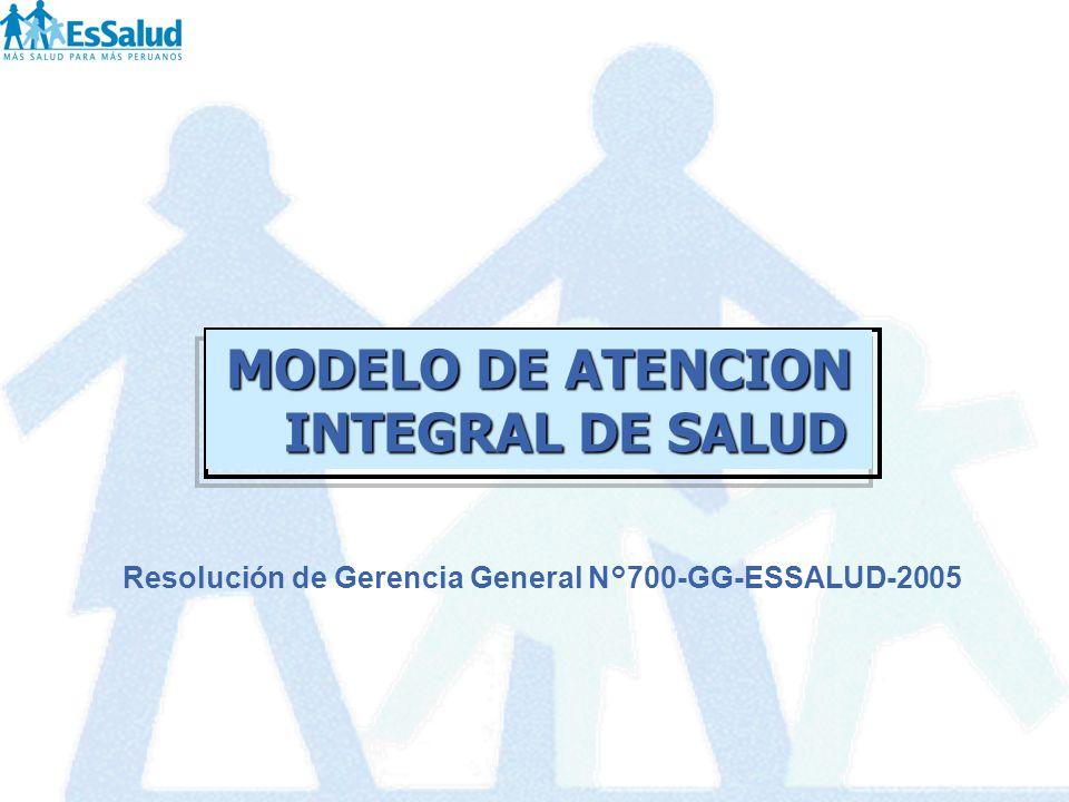 Resolución de Gerencia General N°700-GG-ESSALUD-2005 MODELO DE ATENCION INTEGRAL DE SALUD