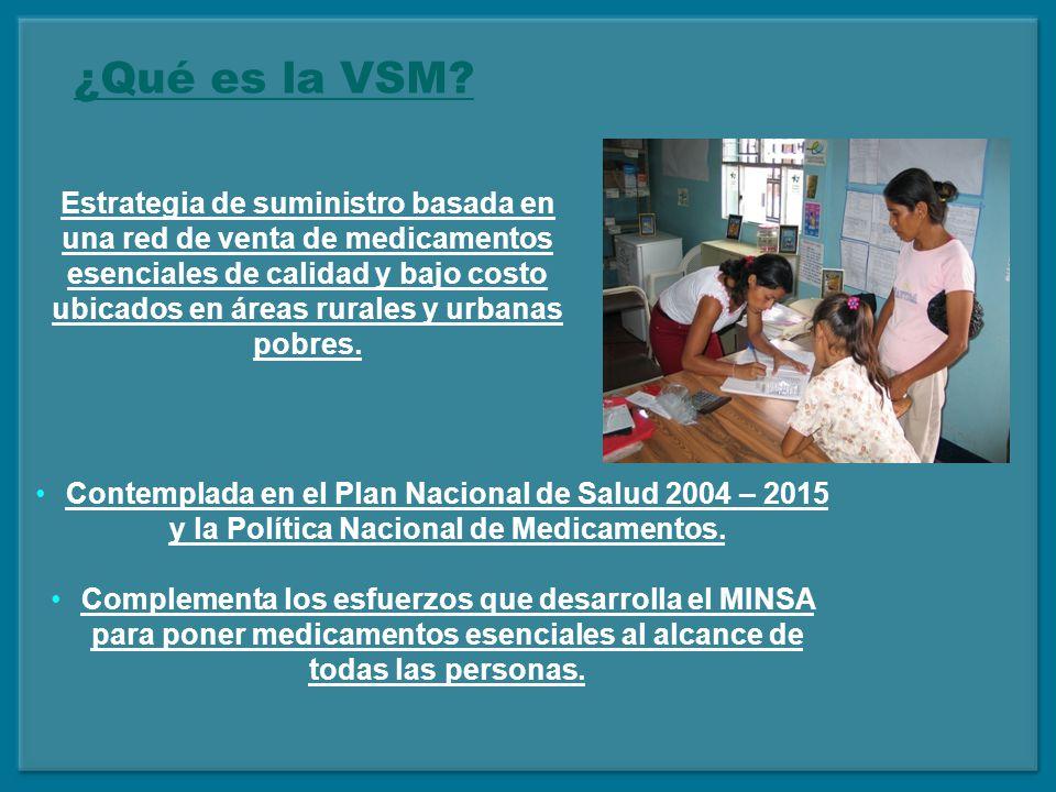 Mejora del acceso a medicamentos esenciales a través de las VSM Medicamentos accesibles geográfica y económicamente.