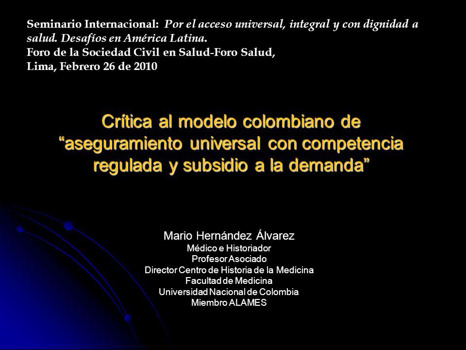 Plan de presentación Síntesis de los sistemas de salud en Europa y AL (siglo XX) Síntesis de los sistemas de salud en Europa y AL (siglo XX) Diferencias entre seguridad social pública, sistema único de salud público (SUS) y aseguramiento de competencia regulada.