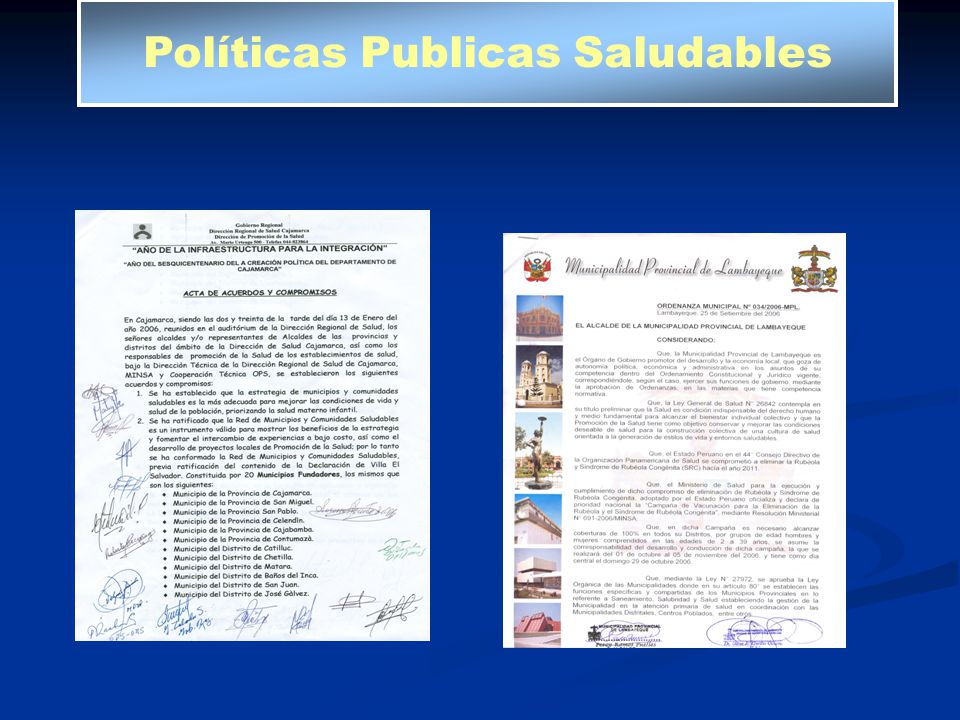 Políticas Publicas Saludables