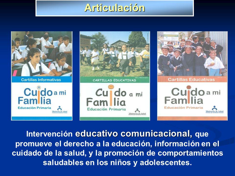 educativo comunicacional, Intervención educativo comunicacional, que promueve el derecho a la educación, información en el cuidado de la salud, y la p
