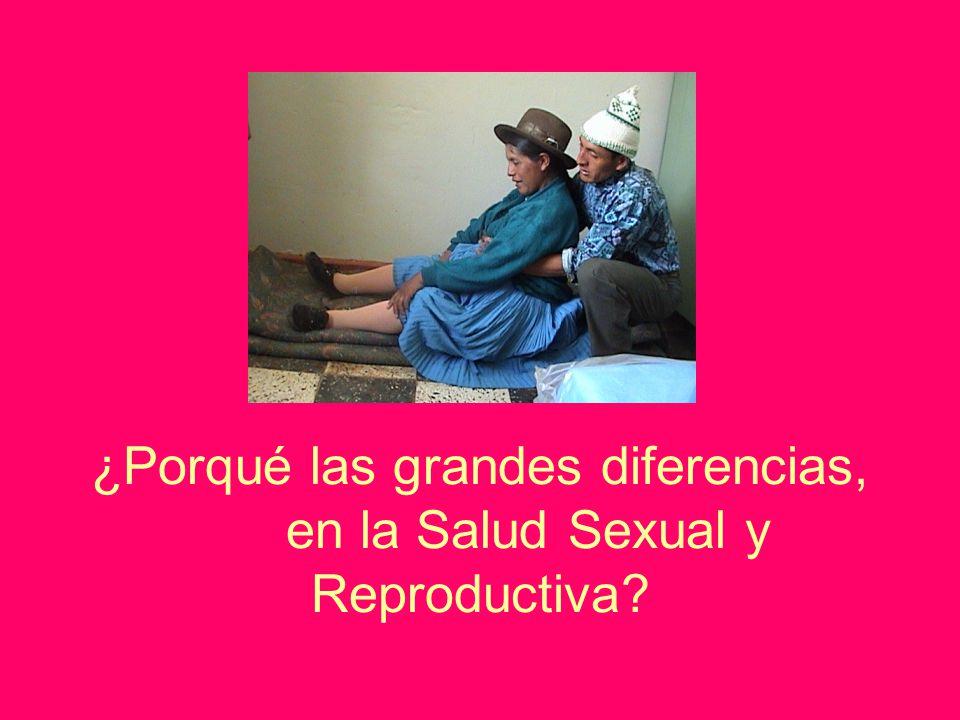 ¿Porqué las grandes diferencias, en la Salud Sexual y Reproductiva?
