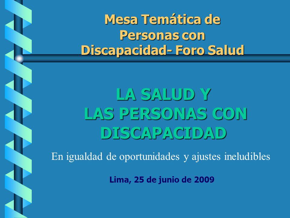 Participación de representantes de las personas con discapacidad en la reelaboración del PEAS.