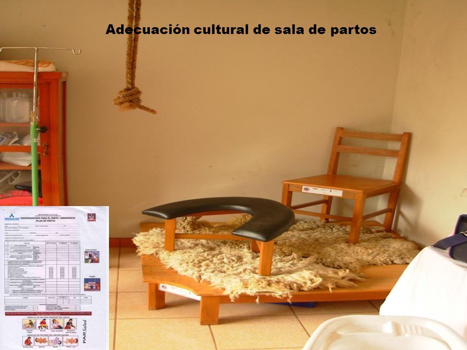 Adecuación cultural de sala de partos