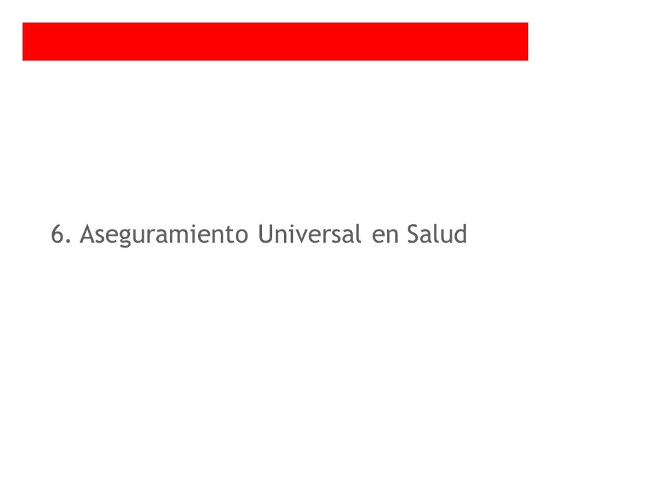 6. Aseguramiento Universal en Salud