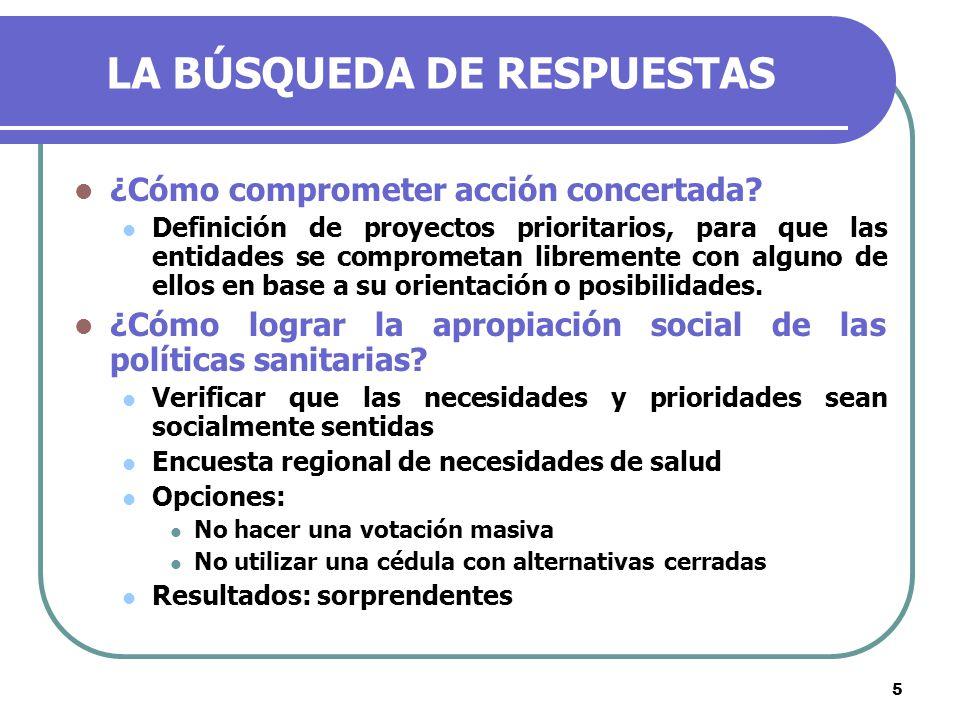 5 LA BÚSQUEDA DE RESPUESTAS ¿Cómo comprometer acción concertada.