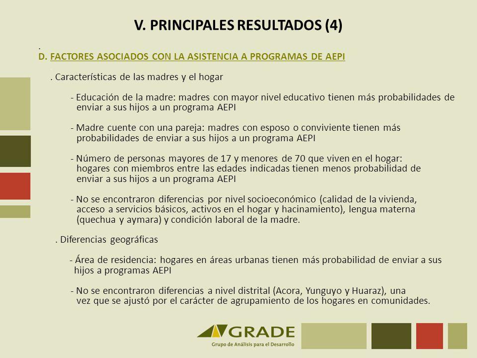 V.PRINCIPALES RESULTADOS (5) E.