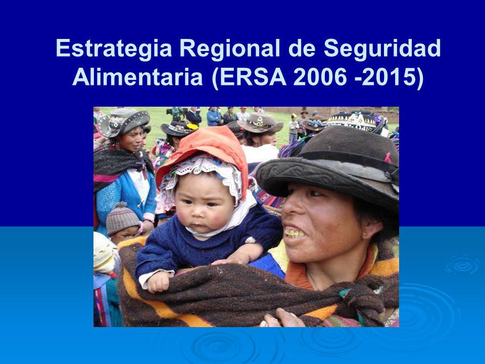 Estrategia Regional de Seguridad Alimentaria (ERSA 2006 -2015)