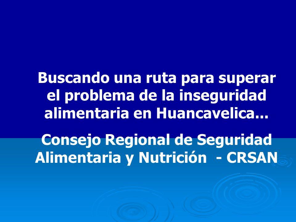 Buscando una ruta para superar el problema de la inseguridad alimentaria en Huancavelica...