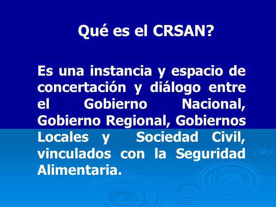 Qué es el CRSAN.