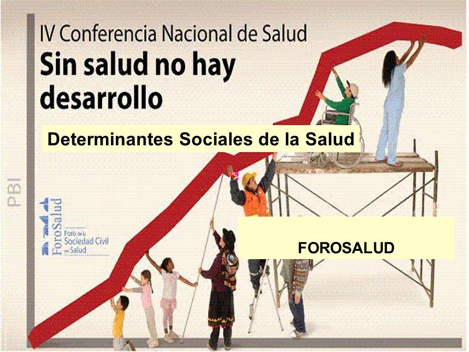 1 Determinantes Sociales de la Salud FOROSALUD