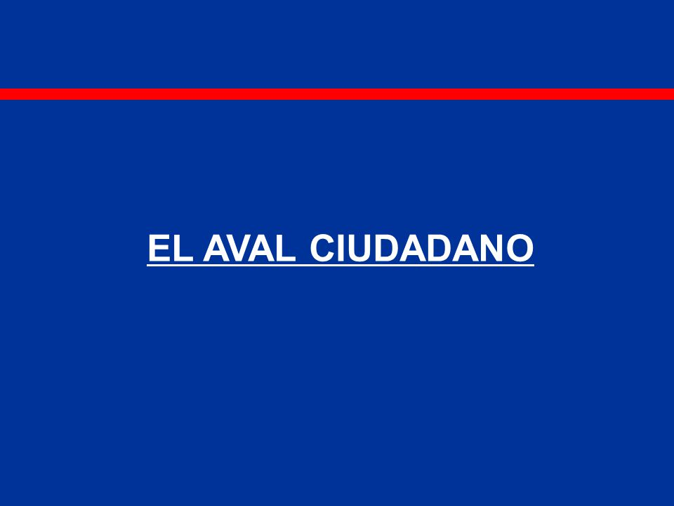 EL AVAL CIUDADANO