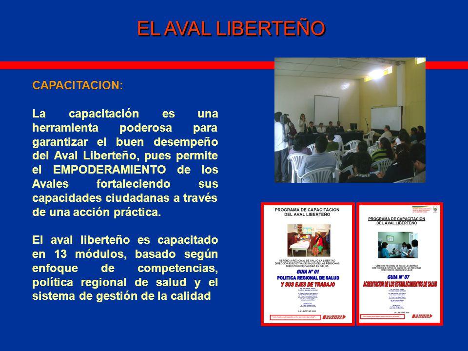 EL AVAL LIBERTEÑO CAPACITACION: La capacitación es una herramienta poderosa para garantizar el buen desempeño del Aval Liberteño, pues permite el EMPODERAMIENTO de los Avales fortaleciendo sus capacidades ciudadanas a través de una acción práctica.