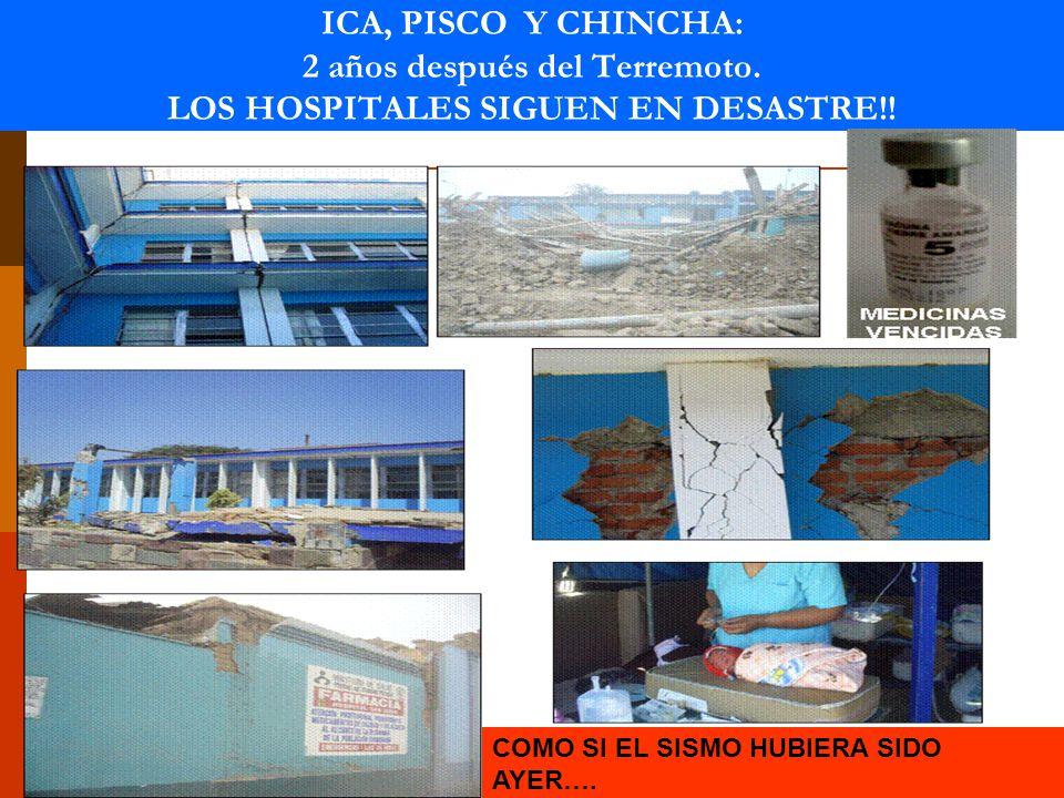19 ICA, PISCO Y CHINCHA: 2 años después del Terremoto.