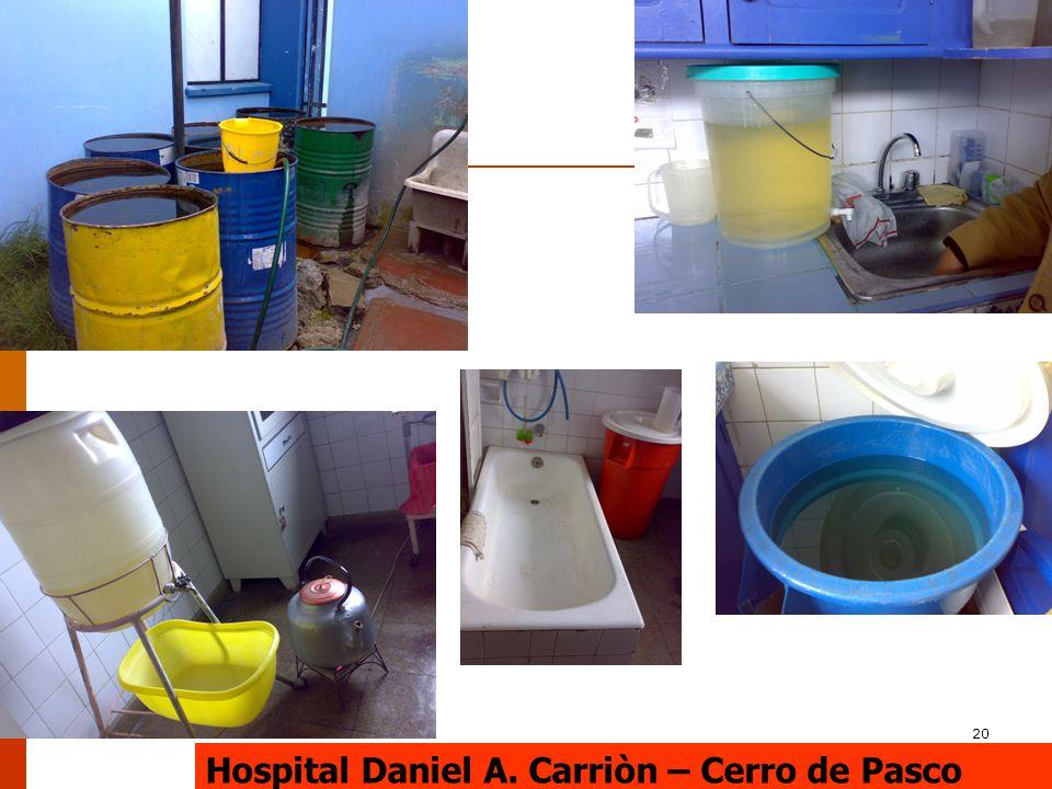 20 Hospital Daniel A. Carriòn – Cerro de Pasco