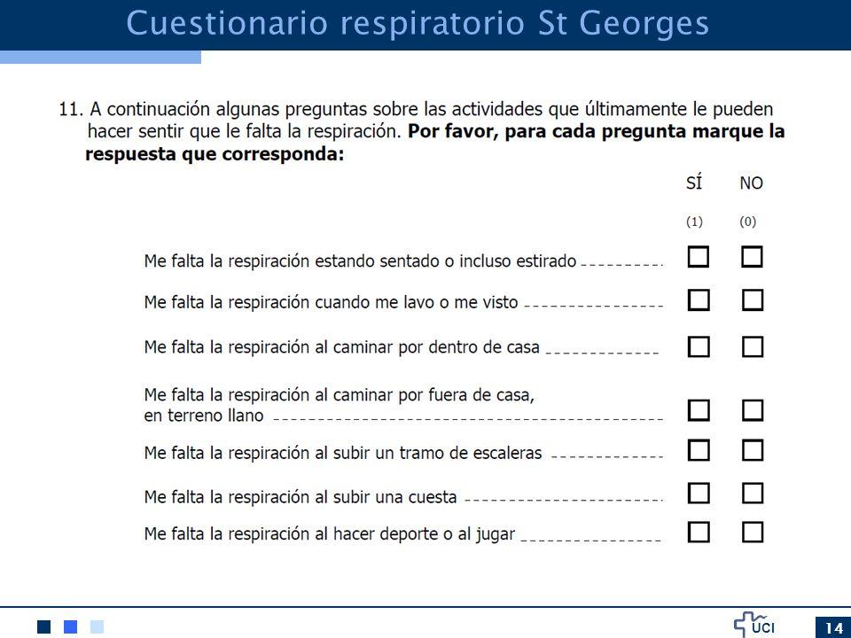 UCI 14 Cuestionario respiratorio St Georges