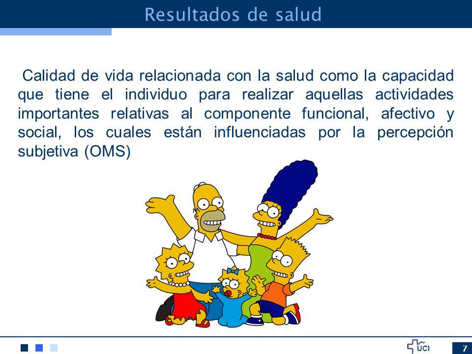 UCI Resultados de salud Quality of life related to health (Schwartzmann, 1999)