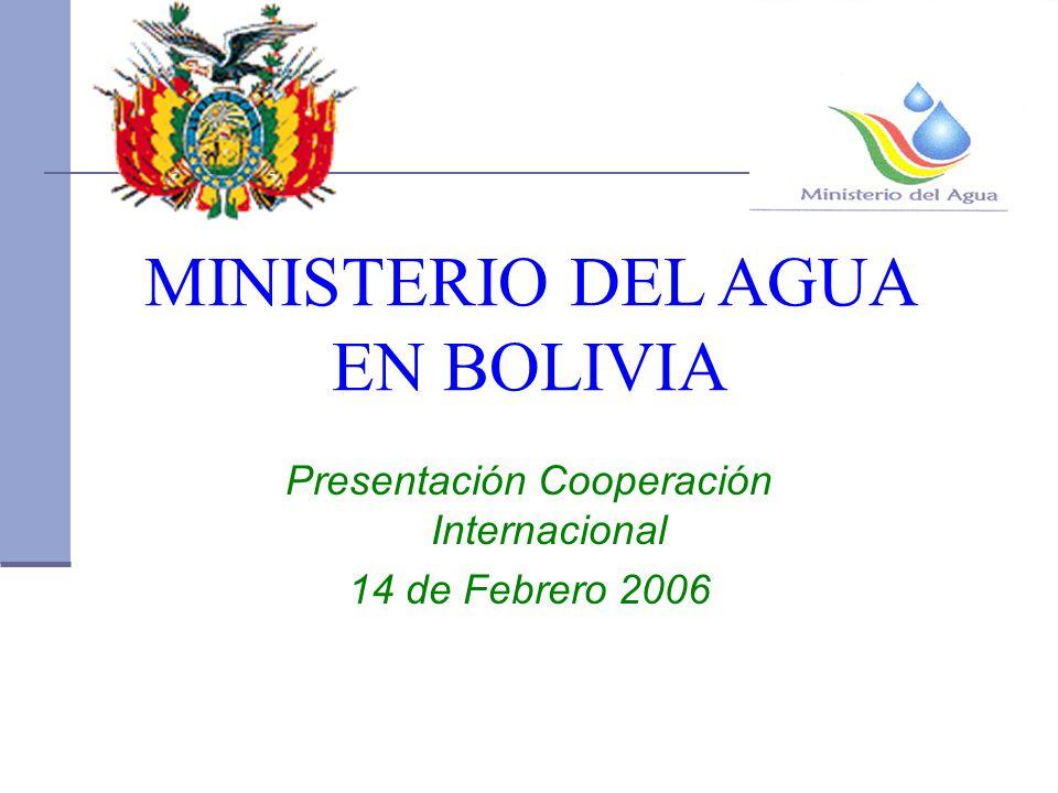 MINISTERIO DEL AGUA EN BOLIVIA Presentación Cooperación Internacional 14 de Febrero 2006