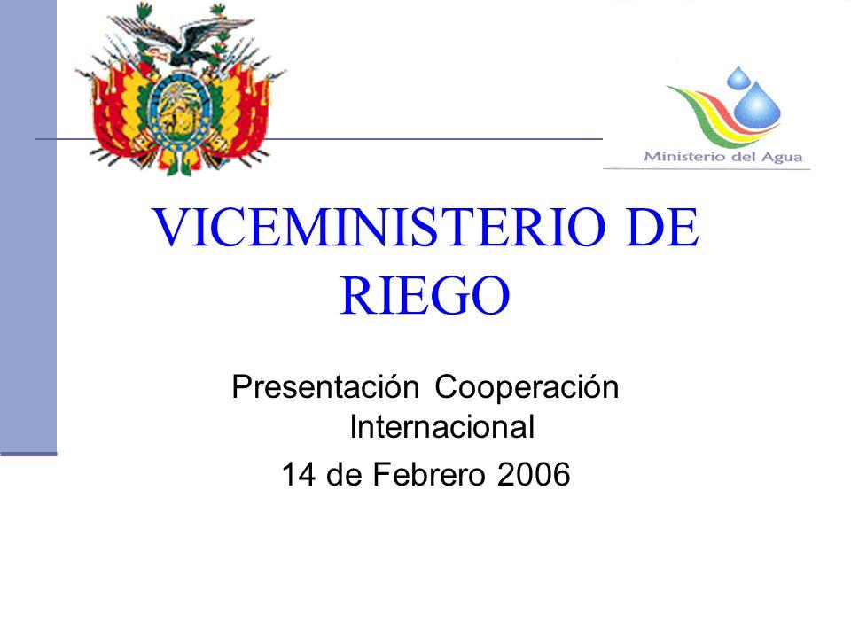 VICEMINISTERIO DE RIEGO Presentación Cooperación Internacional 14 de Febrero 2006