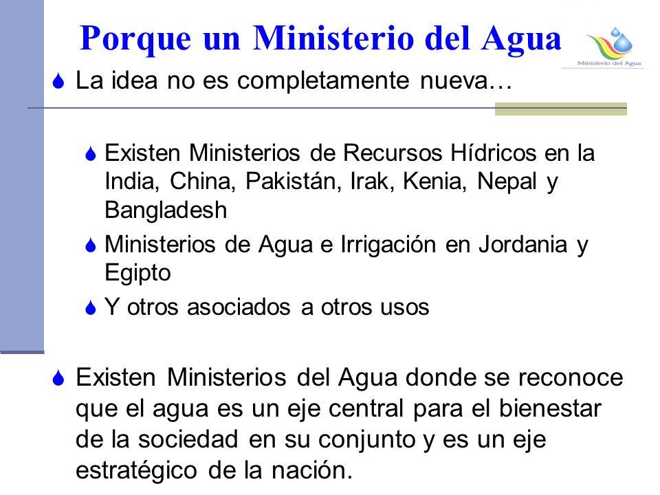 Porque un Ministerio del Agua.
