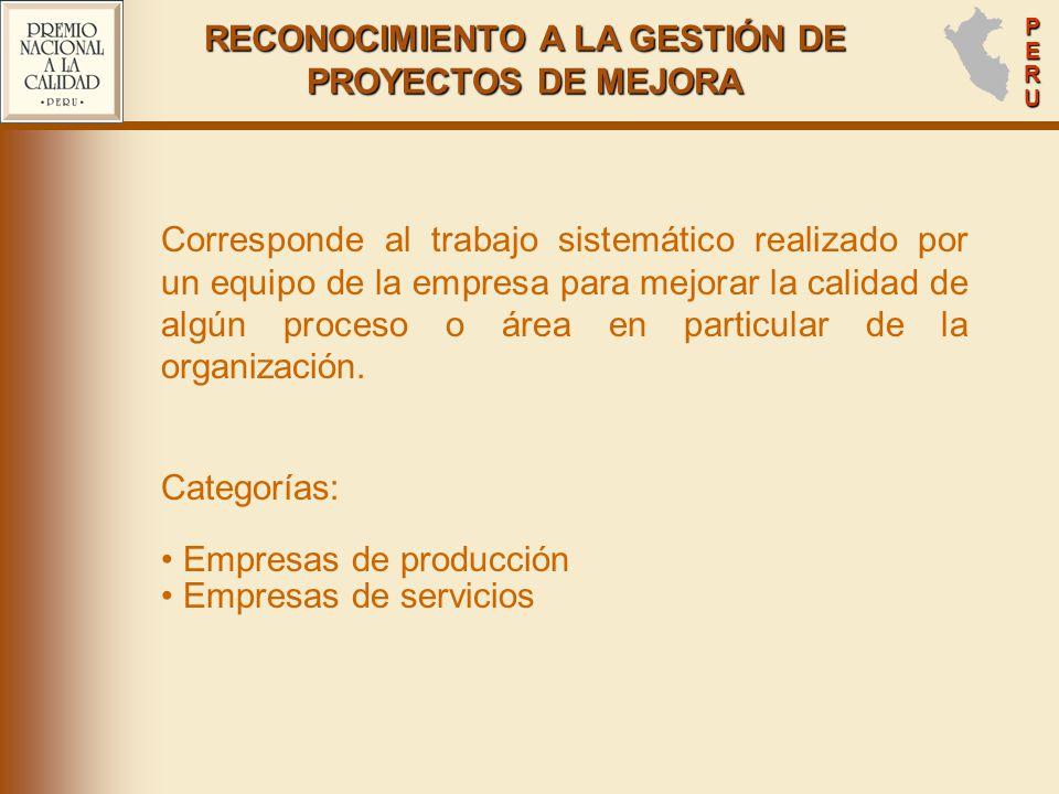 PERUPERUPERUPERU Corresponde al trabajo sistemático realizado por un equipo de la empresa para mejorar la calidad de algún proceso o área en particular de la organización.