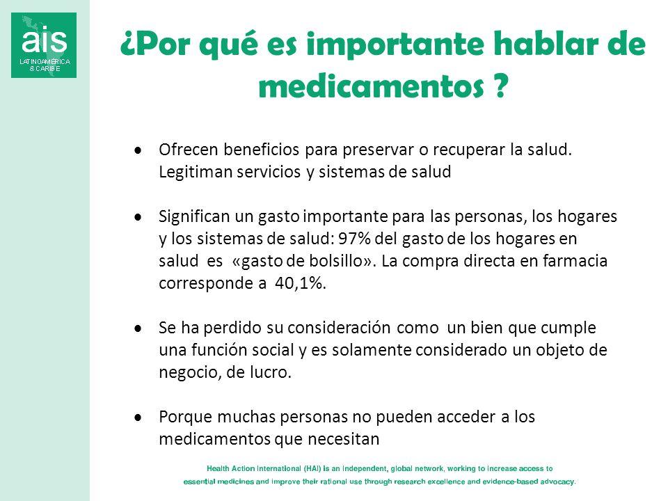 ¿Por qué es importante hablar de medicamentos .