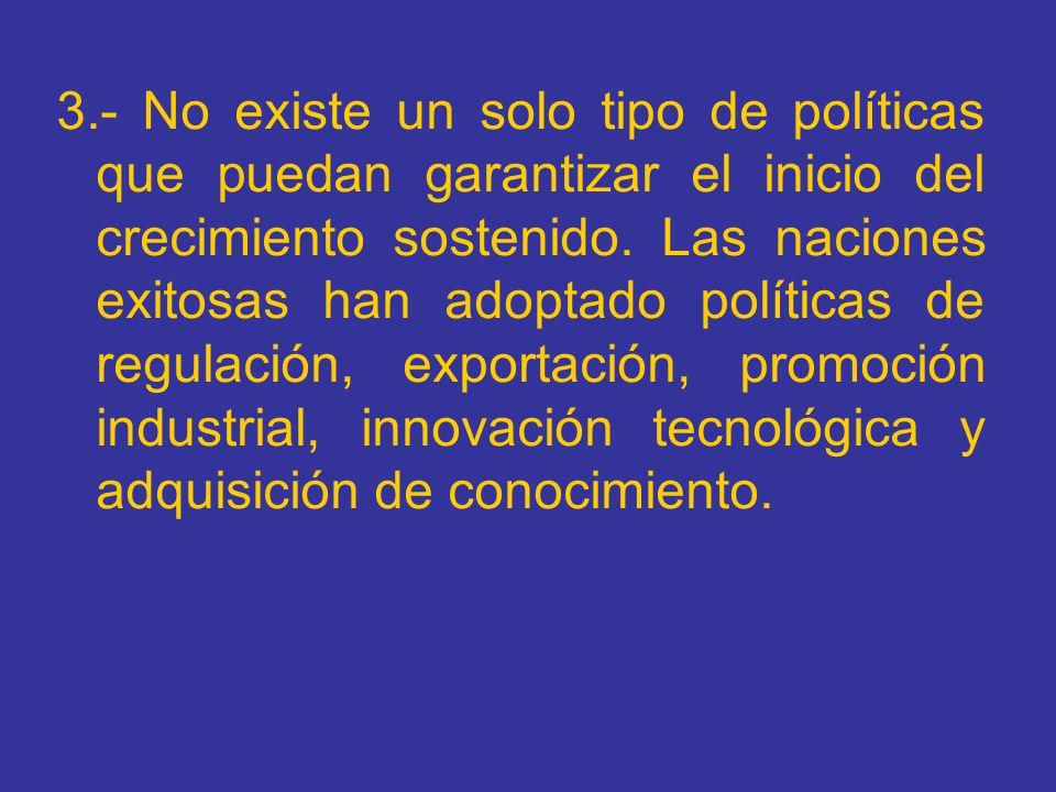 Alternativa 1.Sostenibilidad de la cuenta corriente 2.Elasticidad ingreso de las importaciones menor que la elasticidad ingreso de exportaciones.
